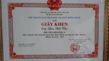 Giấy khen UBND TT Đồng Đăng- Huyện Cao Lộc - Tỉnh Lạng Sơn