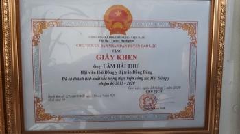 Giấy khen UBND Huyện Cao Lộc - Tỉnh Lạng Sơn